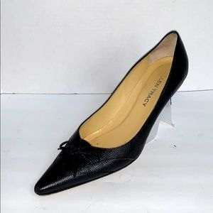 Ellen Tracy Leather Made in Italy Black